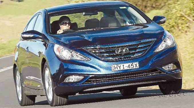 The Hyundai i45's design brief was to create 'presence'.