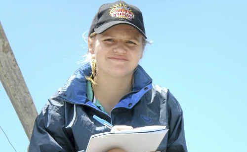 Geography student Laura Bennett taking part in Geography's Big Week Out in Western Australia last December.
