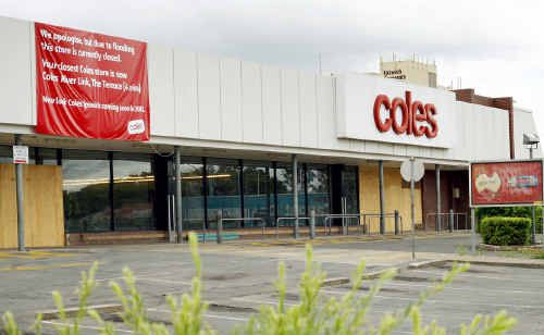 The Coles store in the Ipswich CBD awaits a decision from the company about the long-term future of the site.