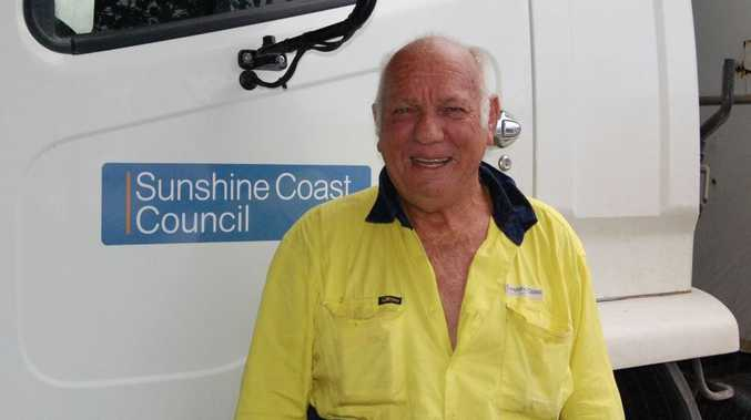 Norm Coxon is parking his truck in the depot shed for the last time on his 70th birthday on Friday, February 25 after 54 years with the Sunshine Coast Regional Council.