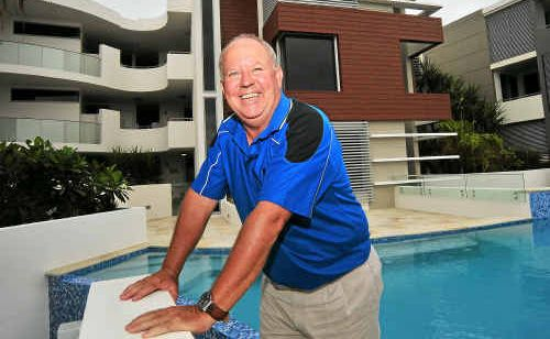 CABE Queensland Sales manager John Albion is proud to show off Bargara's Saltwater apartments to prospective buyers.