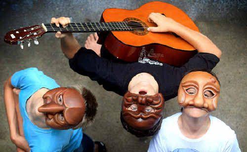 Students Byron Roberts, Jordan Barnham and Jack Baker-Sime hope to hold special Banana Festival performances.