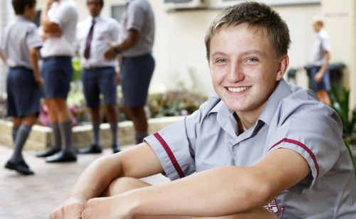 Ipswich Grammar School student Brock Plum eagerly awaits this weekend's racing opportunity.