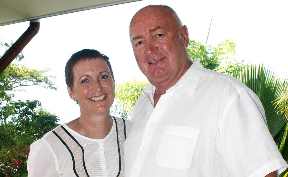 Corrie and John Gardner were in Christchurch when the earthquake struck on Tuesday.