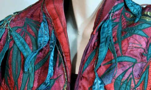A detail of a garment by Carroll Pichelmann in Classic Oz Rocks.