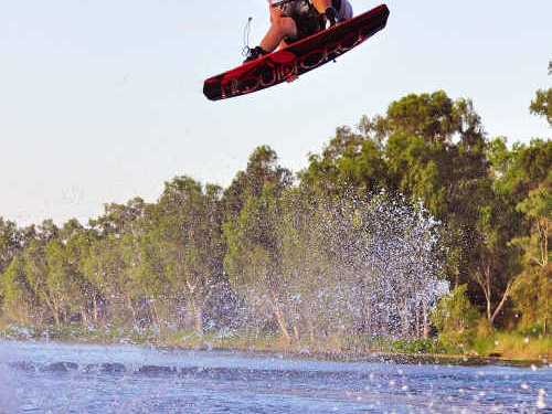 HOT MOVES: Professional wakeboarders will hit the Emerald Aquatic Centre for the Wake'n for the Kids fundraising event. Prowake.com.au