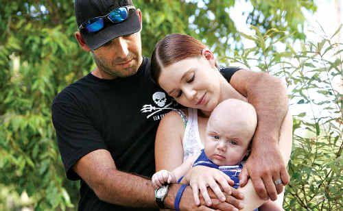 Mathew Eustace, wife Jasmin and son Zakiah. Mathew has been diagnosed with MND.