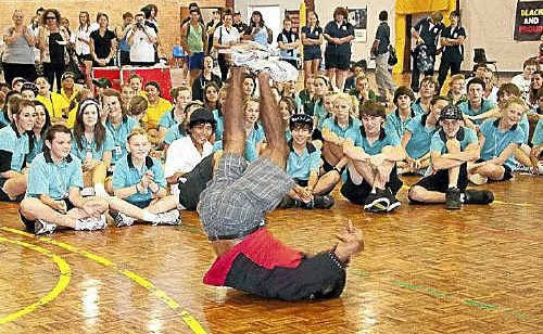 Jason Campbell shows his moves at the Wyong 3on3 event.