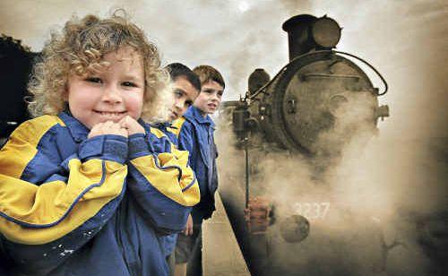 ALYSIA McLennan can't wait to board the steam train.