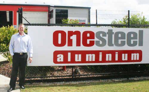 Savills Sunshine Coast Scott Gardiner outside the Kunda Park property now being leased by OneSteel Aluminium.