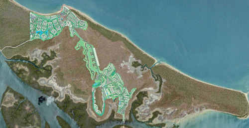 A plan of the proposed development on Hummock Hill Island.