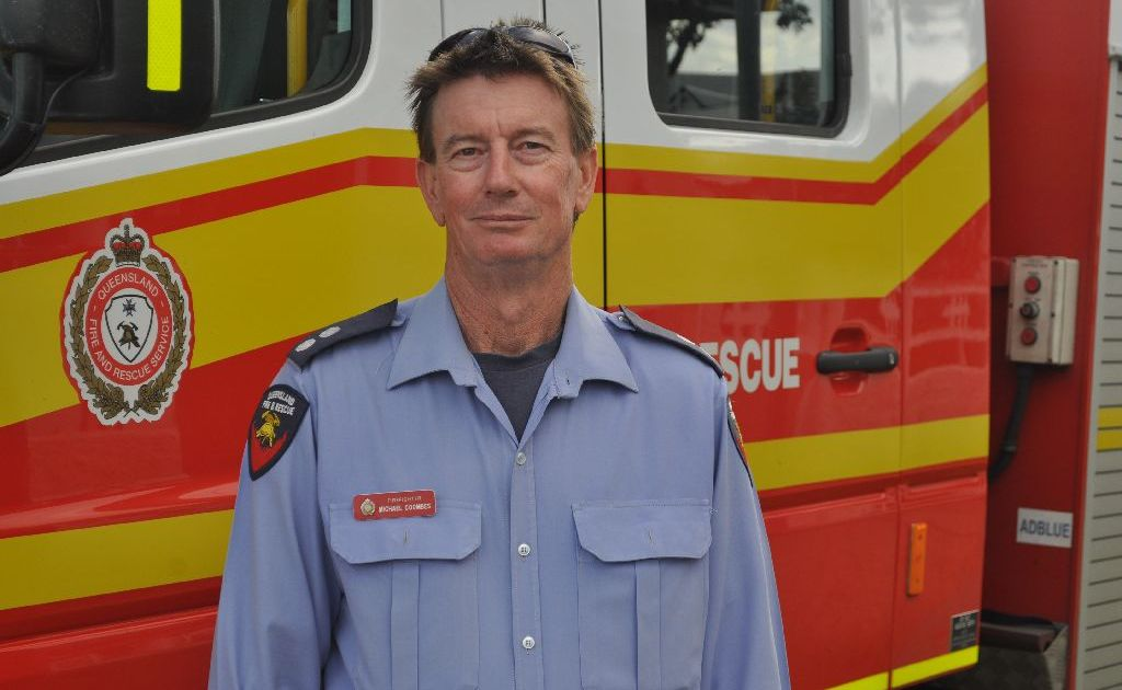 Warwick firefighter Michael Coombes.
