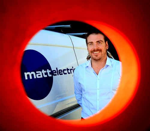 BRIGHT SPARK: Matt Hanley owner of Matt Electric.