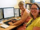 USQ Professor of Psychology Grace Pretty and Dr Charlotte Brownlow, USQ Lecturer in Psychology set to work on the Water Wings program.