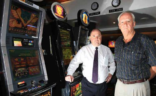 Twin Towns Services Club general manager Rob Smith and chairman Michael Fraser fear for the club's future.