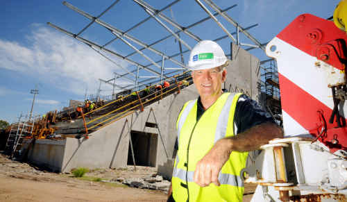 Stockland Park managing director John Kelly is positive the grandstand will be finished by June.