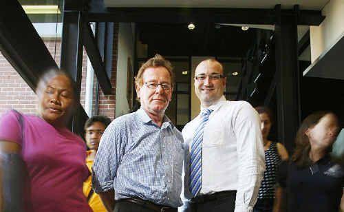 Healthy Communities Research Centre director Professor Robert Bush and Bendigo Bank's Matt Gnech look forward to the study beginning.