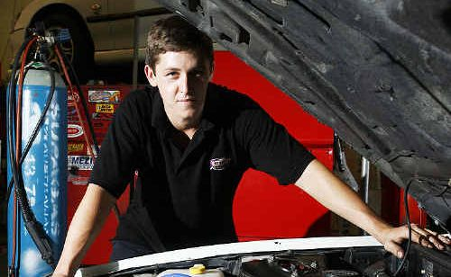 Ipswich Muffler and Mechanical manager Daniel Guthrie is wary of petrol-additive claims.