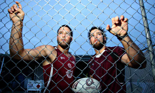 Identical twins Callum and Rowan Klein could confuse their opponents this year.