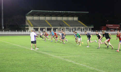 The Crushers train at Nambour Showgrounds before last year's grand final. The 2011 decider may have a new venue.