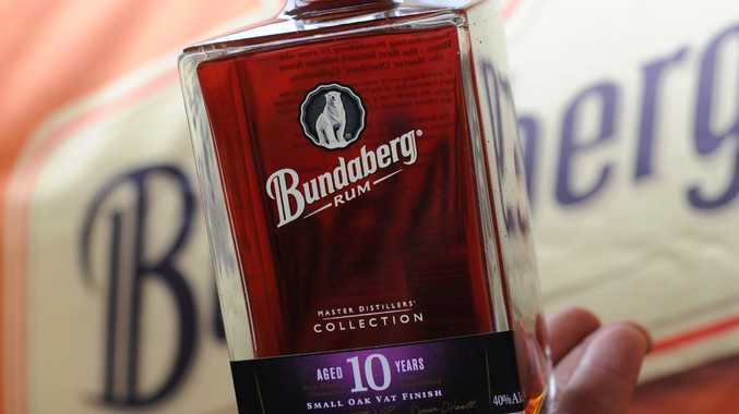 The Bundaberg Rum master distillers collection bottle.