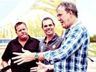 UK Top Gear's Jeremy Clarkson (right) with (from left) co-host Shane Jacobson and V8 champ Craig Lowndes.