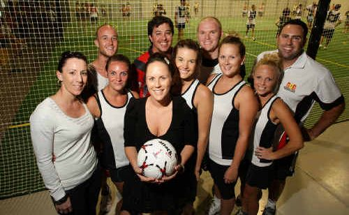 Garry Crick Prestige's Team Benz is one of the many corporate teams playing at the Sunshine Coast Indoor Sports Complex.