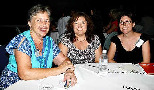 Kate Crawford, Maxine Lewis and Bek Hall.