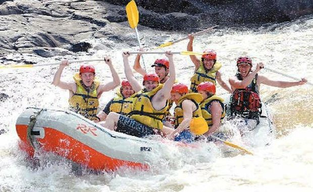 White water rafting at Barron River, Cairns.