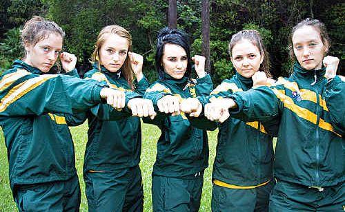 Bianca Bin, Indija Anderson, Carlie Dann, Amber Hughes and Kiara Bin will represent Australia in taek kwon do.