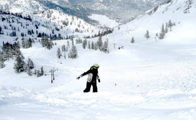 WHITEOUT: California's Squaw Valley has a vast area to ski and a considerable choice of chairlifts.