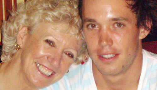 Jenny Stirling with her son Todd Parnell.
