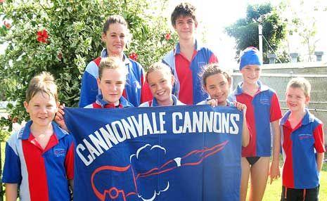 TEAM SPIRIT: Cannonvale Cannons swimmers competed well at the North Queensland Championships last weekend. BacK: Cydney Hewitt-Wood and Ivan Van Zyl. Front: Dane Gottschalk, Rachel Gottschalk, Olivia Romanella, Tahlia Neil, Freya Hewitt-Wood and Tim Gottschalk.