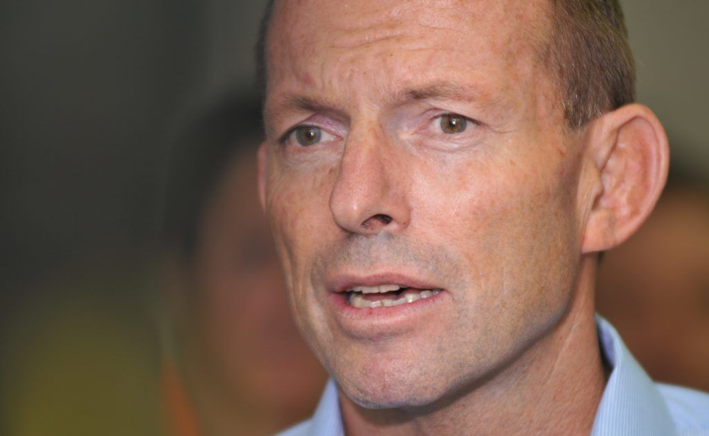 """Mr Abbott said at the very least Ms Gillard's conduct was """"unbecoming""""."""