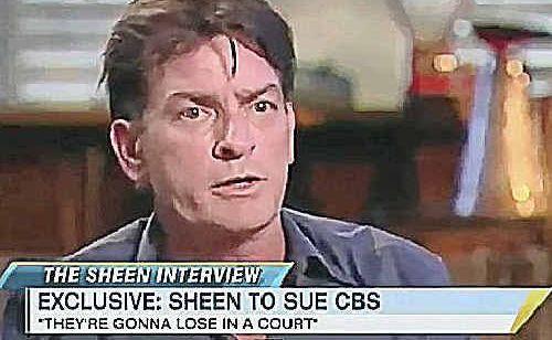 RANTING STILL: Sheen.