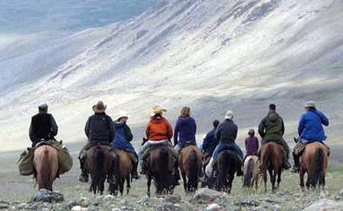Trekking to the remote Altai Mountains.