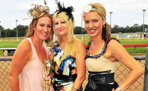 Carolyn Taylor, Sally Rieck and Angie Scmeider look great at the race day.