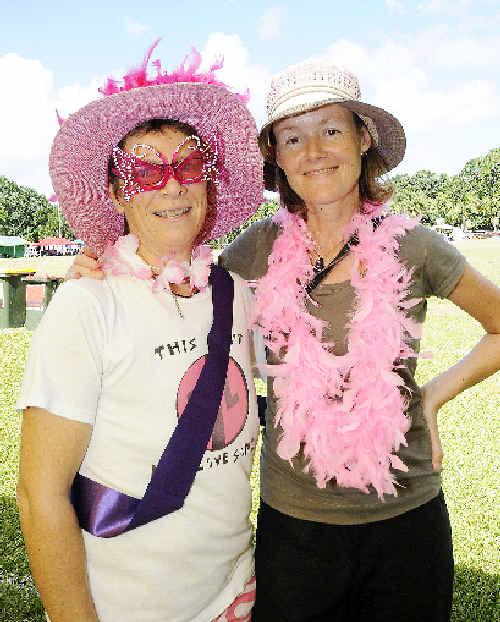 Cancer survivor Barbara Pinter with Antoinetie Dervan, both of Byron Bay.