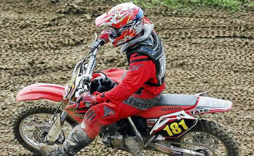 Blake Dennis was competing in the 85cc two stroke/150cc four stroke 12 to under-16 years South Grafton Ex-Services Motocross event at South Grafton on Sunday.