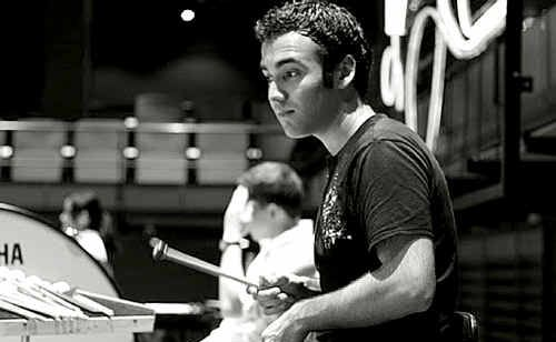 Former Toowoomba State High School student Brent Miller rehearses with the YouTube Symphony Orchestra at the Sydney Opera House.