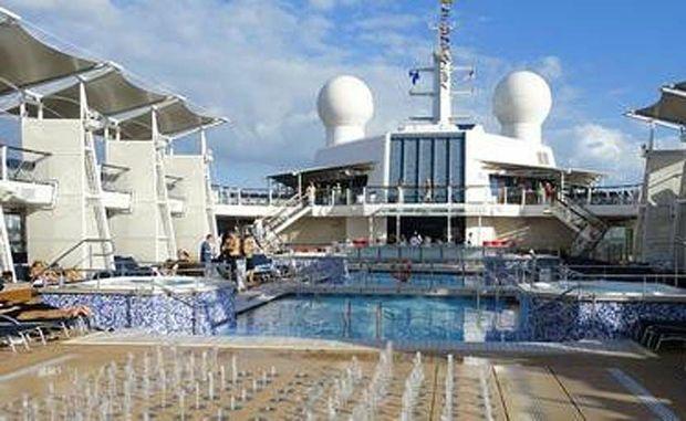 Aboard the crusie ship Celebrity Eclipse.