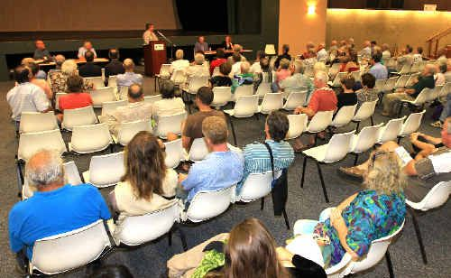 Local infrastructure, the environment, economic issues and the impact of cross-border regulation on businesses were hot topics for those who attended the Meet the Candidates forum.