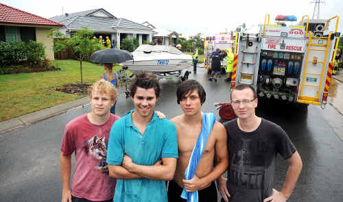 From left, Brandon Fairless, Sam McArthur, Tommy Strine and Arthur Desplaces.