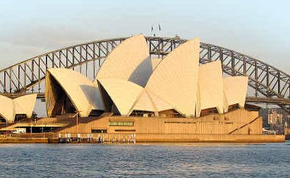 The Opera House and Sydney Harbour Bridge are the city's most famous landmarks.