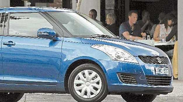 The 2011 Suzuki Swift is larger inside and it sits on a bigger wheelbase.