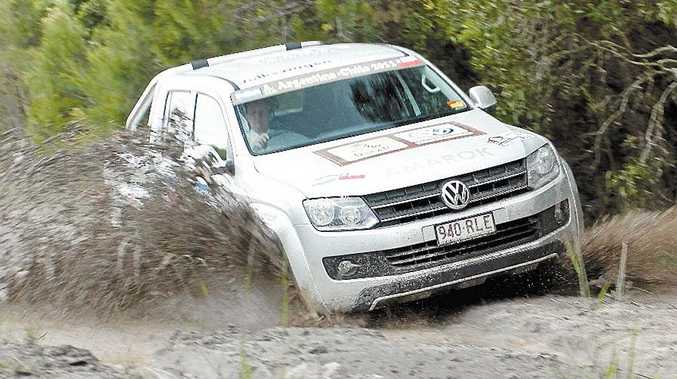 The 2011 Volkswagen Amarok had no issues with a soaked track.