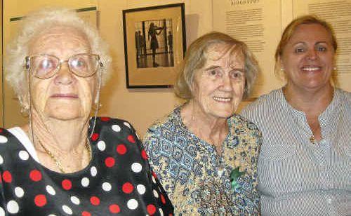 Doreen Bellamy, Verna Sampson and Camille Moreton tour the Grafton Regional Gallery as part of Seniors Week.