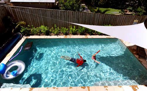 A backyard swimming pool.