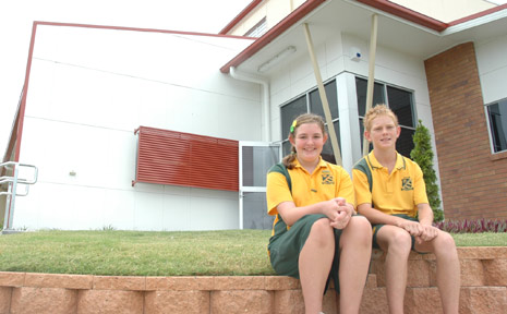 GATTON STATE SCHOOL Captains, Annalyce Ross and Brock Parchert are excited about using the new sports building and resource centre.