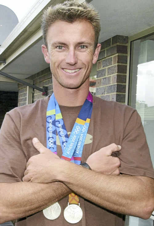 Nathan Baggaley pictured following the Athens Olympic Games in 2004.